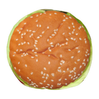 Funny Hamburger Pouf
