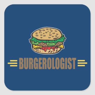 Funny Hamburger Square Sticker
