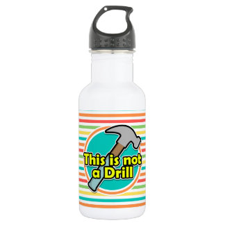 Funny Hammer; Bright Rainbow Stripes 532 Ml Water Bottle