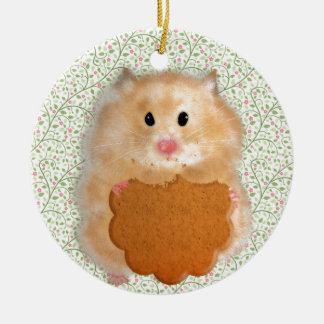 Funny Hamster Character illustration Ceramic Ornament