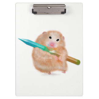 Funny hamster Clipboard by Gemma Orte Designs