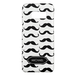 Funny Hand Drawn Black mustache personalized Case-Mate Samsung Galaxy S8 Case
