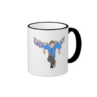 Funny Hanging Out T-shirts Gifts Ringer Mug