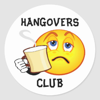 Funny Hangovers Club Sticker