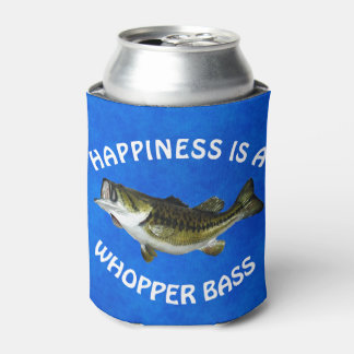 "Funny ""Happiness is a Whopper Bass"" Can Cooler"