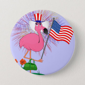 Funny Happy 4th of July Button