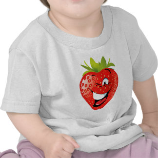 funny happy animated strawberry tshirt