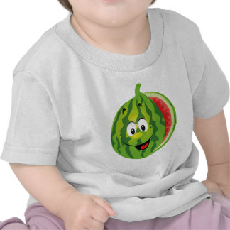 funny happy animated watermelon tee shirts