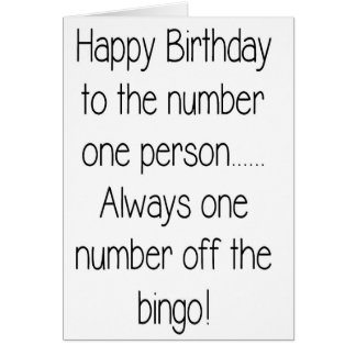 Funny Happy Birthday Card - Number 1