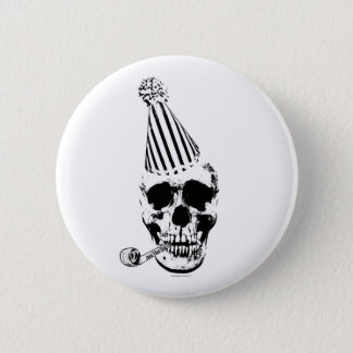 Funny Happy Birthday Party Hat Skull 6 Cm Round Badge