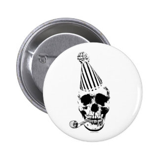 Funny Happy Birthday Party Hat Skull 6 Cm Round Badge