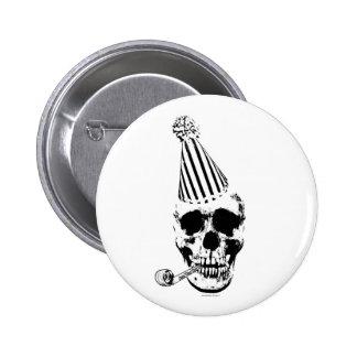 Funny Happy Birthday Party Skull 6 Cm Round Badge
