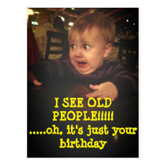 Funny Happy Birthday Postcard