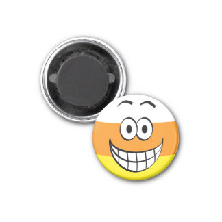Funny, Happy Candy Corn Halloween Magnet