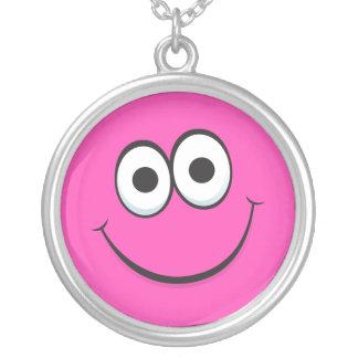 Funny happy cartoon face necklace