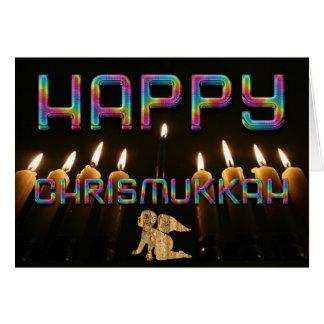 Funny Happy ChrisMukkah Angel Christmas Hanukkah Card