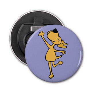 Funny Happy Dancing Dog Bottle Opener