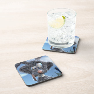 funny happy easter bunny drink coasters