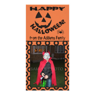 Funny Happy Halloween Personalized Photo Cards