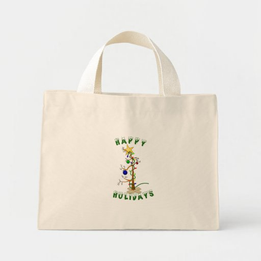 Funny Happy Holidays Bag