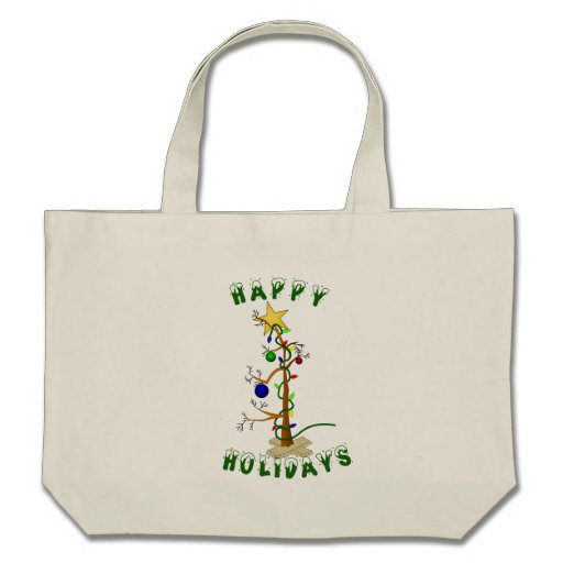 Funny Happy Holidays Tote Bags
