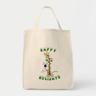 Funny Happy Holidays Canvas Bags