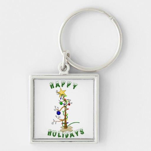 Funny Happy Holidays Key Chains