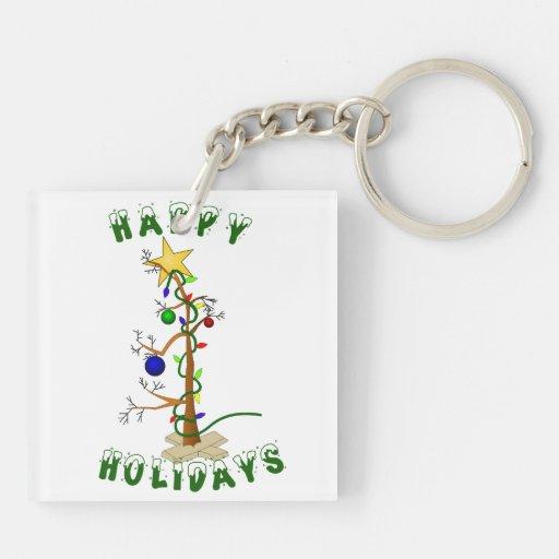 Funny Happy Holidays Acrylic Key Chains