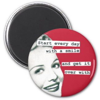 Funny Happy Housewife Retro Magnet