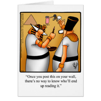Funny Happy King Tut Day Card