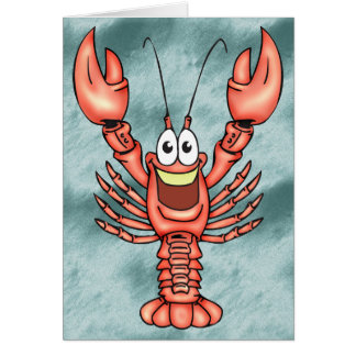 Funny Happy Lobster Card