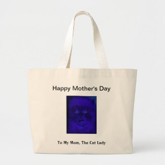 Funny Happy Mother's Day For the Cat Lover Woman Tote Bag