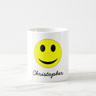 Funny Happy Smiling Smiley Emoticon Yellow Coffee Mug
