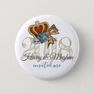 Funny Harry And Meghan Invited Me Royal Wedding 6 Cm Round Badge