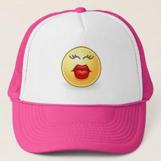 Funny Hat Emoji Kissing