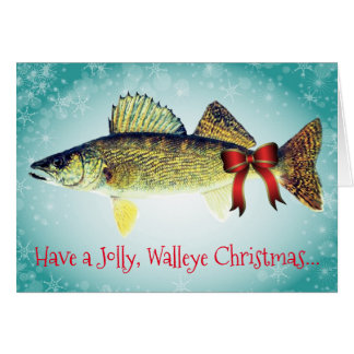 "Funny ""Have a Jolly Walleye Christmas"" Card"