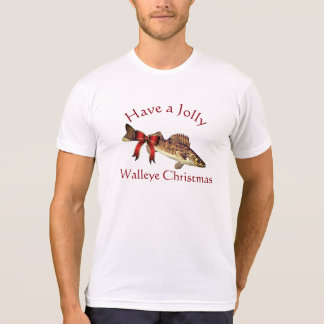"""Funny """"Have a Jolly Walleye Christmas"""" T-Shirt"""