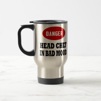 Funny Head Chef Travel Mug