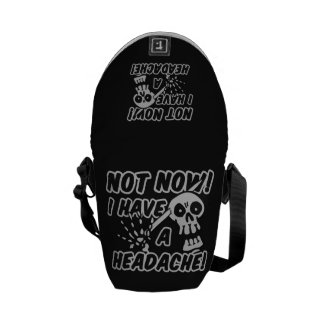 Funny Headache Skull messenger bag
