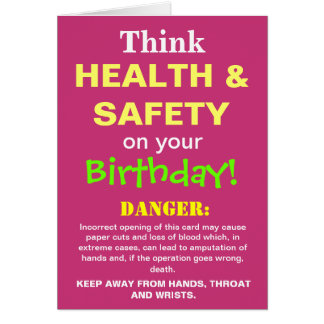 Funny Health and Safety Birthday Joke Add Caption Card