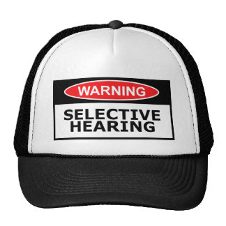 Funny hearing mesh hat