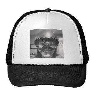 funny helmet mesh hats