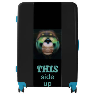 Funny Hilarious Cute This Side Up Dragonfly Luggage