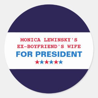 Funny Hillary Clinton Monica Lewinsky Stickers