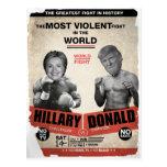 Funny Hillary Clinton vs Donald Trump Election Postcard