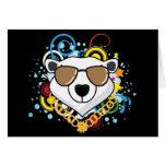 Funny Hip-Hop Polar Bear Picture Card