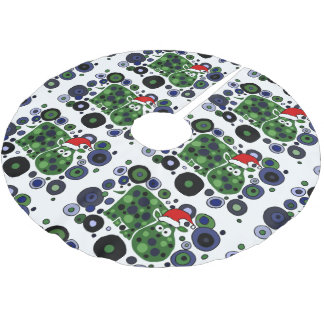 Funny Hippo Abstract Christmas Tree Skirt