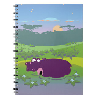 Funny Hippo Spiral Note Book