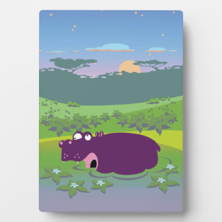 Funny Hippo Plaques