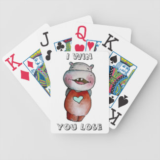 Funny Hippo Playing Cards